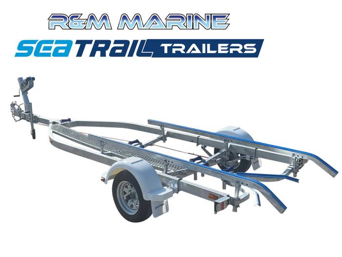 SEATRAIL 5.6M BRAKED SKID BOAT TRAILER