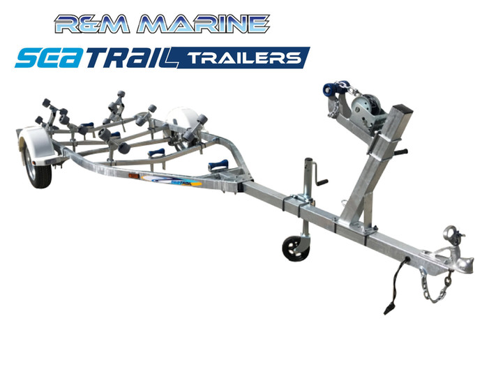 SEATRAIL 4.8M ROLLERED BOAT TRAILER