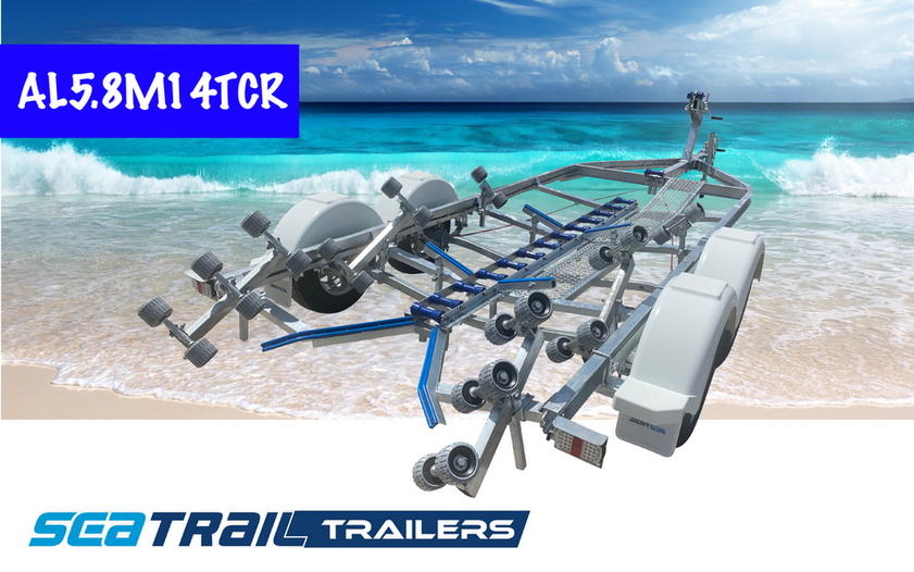 SEATRAIL AL5.8M14TCR C-CHANNEL TANDEM ROLLERED BOAT TRAILER