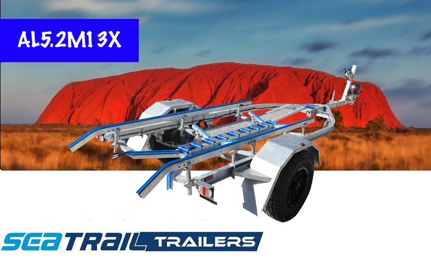 SEATRAIL AL5.2M15CX C-CHANNEL 4X4 SKID BOAT TRAILER