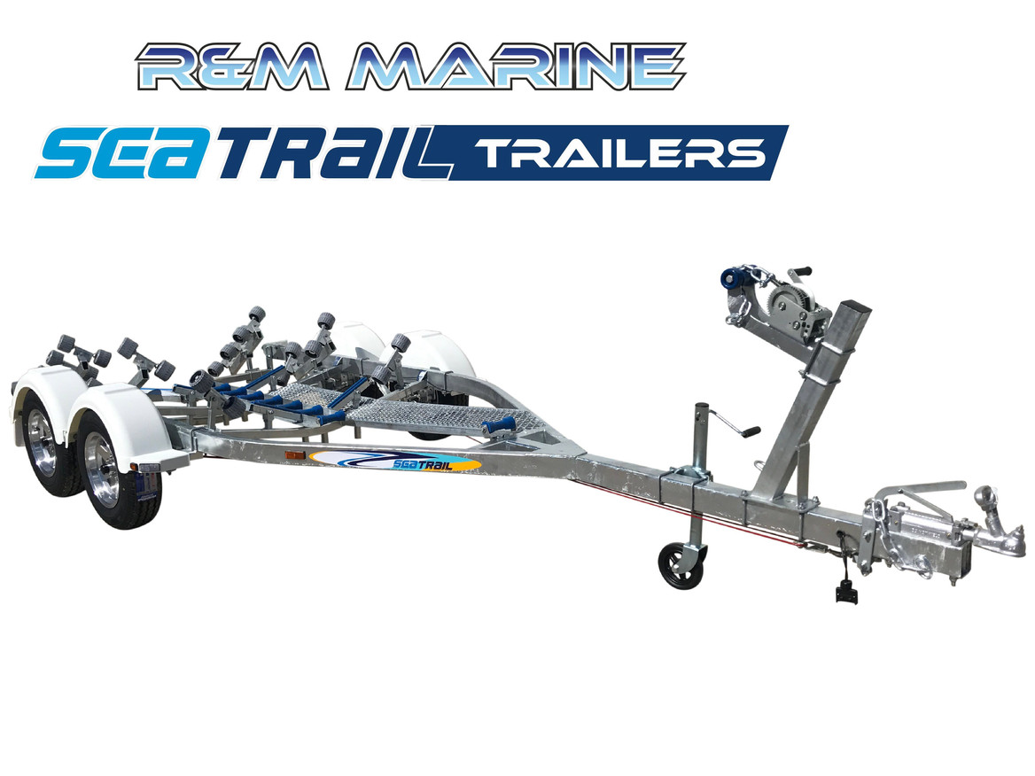 SEATRAIL 5M DELUXE TANDEM ROLLERED BOAT TRAILER