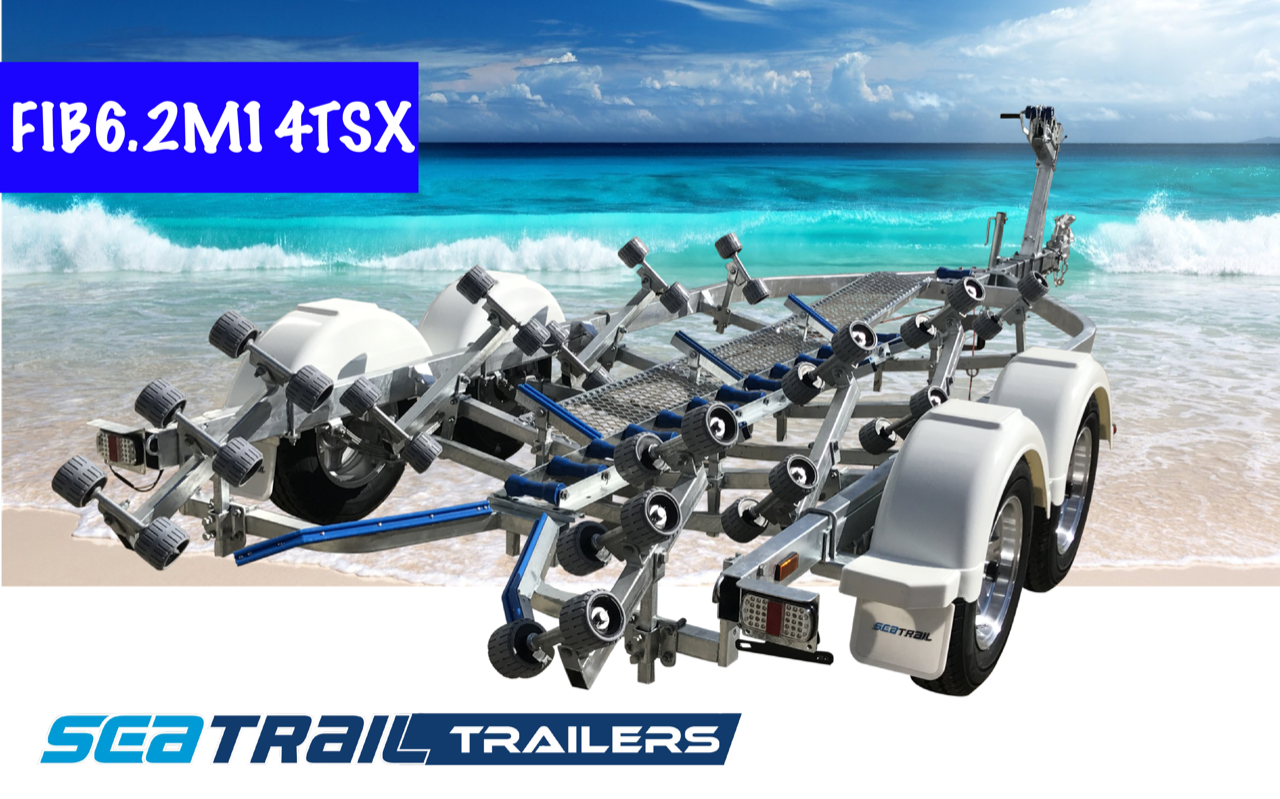 SEATRAIL FIB6.2M14TSX DELUXE TANDEM ROLLERED BOAT TRAILER