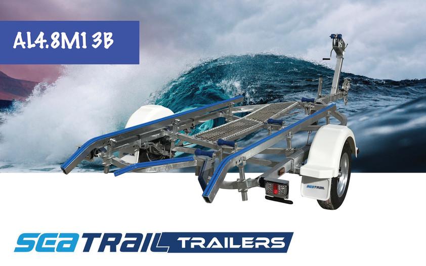 SEATRAIL AL4.8M13B SKID BOAT TRAILER