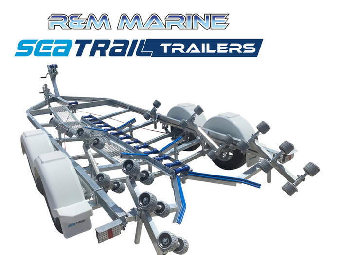 SEATRAIL 5.8M C-CHANNEL TANDEM ROLLERED BOAT TRAILER