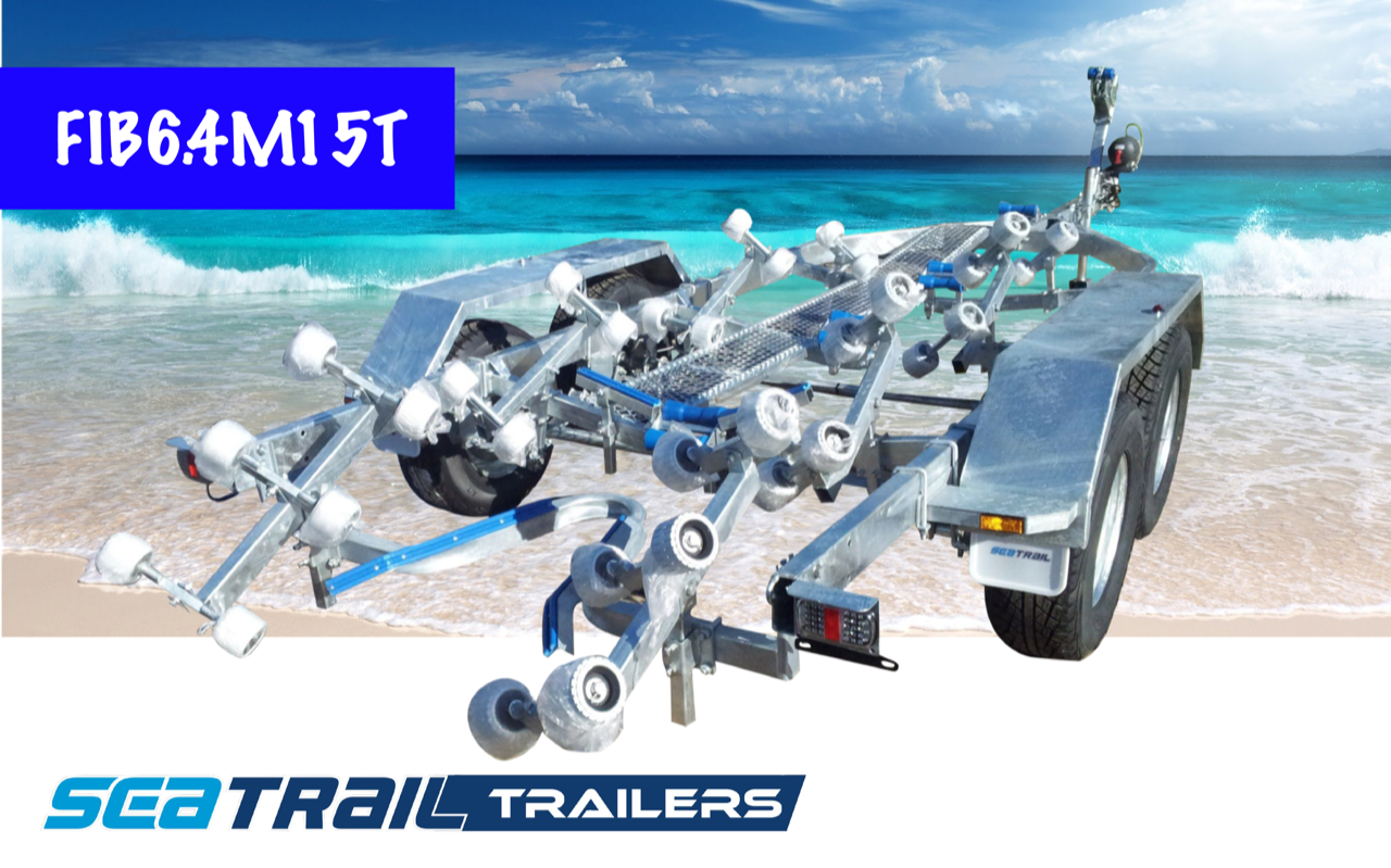 SEATRAIL FIB6.4M15T 3500KG RATED ROLLERED BOAT TRAILER
