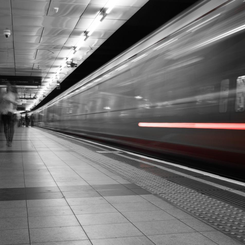 Ghosts on the platform