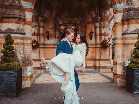 Joe and Vika finally had their beautiful wedding day at the exquisite Ettington Park Hotel.