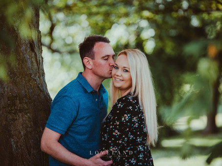 Hannah and Robs Pre Wedding Photoshoot at Sandwell Valley.