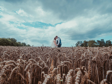 Sarah and Andy celebrated their rustic style barn wedding at The Cowshed at Codsall.