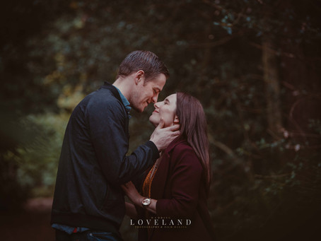 Marie and Jamie's Pre Wedding Photoshoot at Sutton Park.