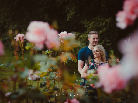 Becky and Adam's Summer Pre Wedding Photoshoot at Sandwell Valley, West Bromwich.