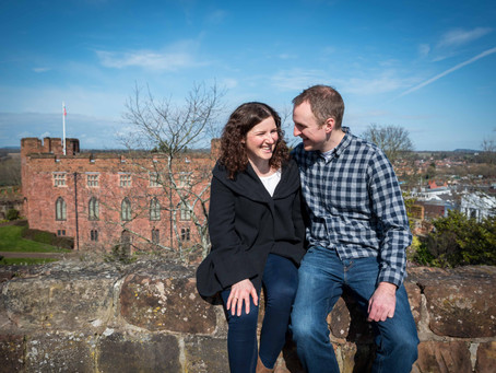 Charlotte and Mark's Pre Wedding Photoshoot at Shrewsbury Castle.