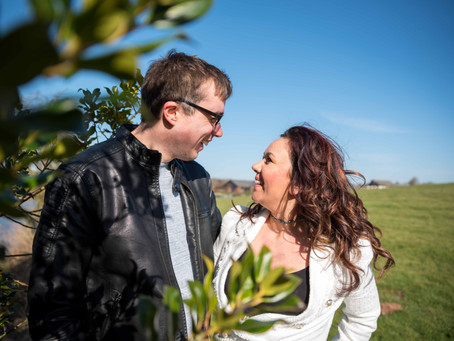 Mark and Sarah's Pre Wedding Photoshoot at Aston Marina.