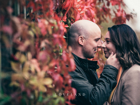 Melissa and Ashley's autumnal Pre Wedding Photoshoot at Sandwell Valley.