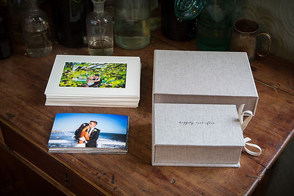 Wedding photographer - Stafforshire - Hand made case with prints.