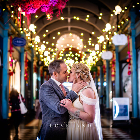 Jo and Michael had a Christmassy wedding at the gorgeous Victorian Hotel Du Vin in Birminghams city