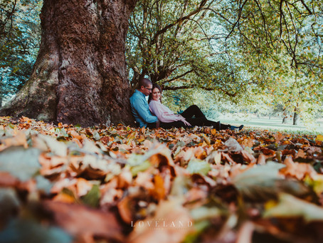 Rebecca and Darren's Pre Wedding Photoshoot at Sandwell Valley.
