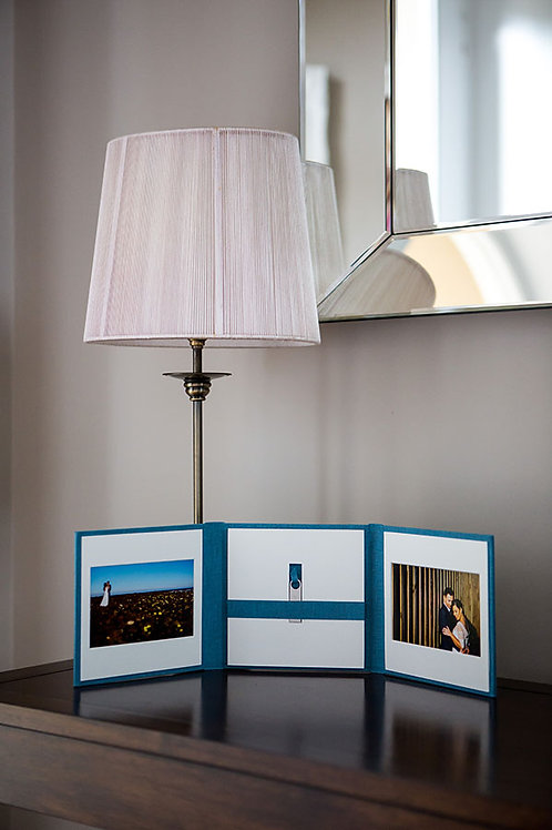 6 x 6 Trio Bookshelf Portfolio and USB