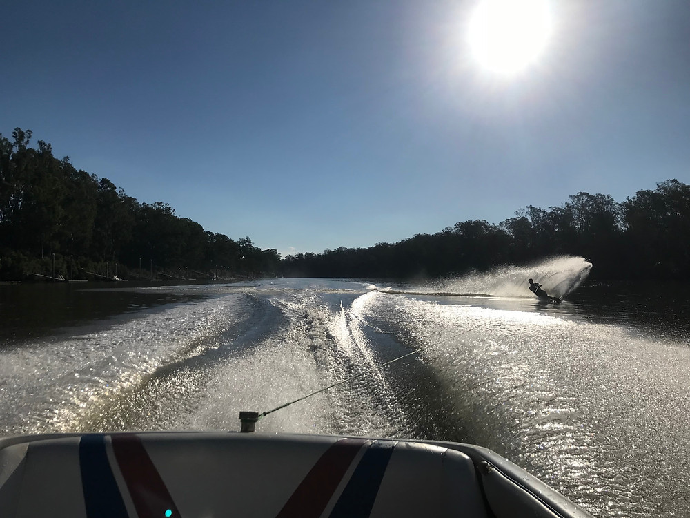Brisbane river water skiing