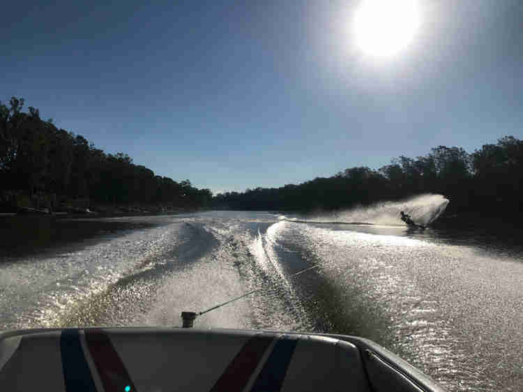 Brisbane river water skiing