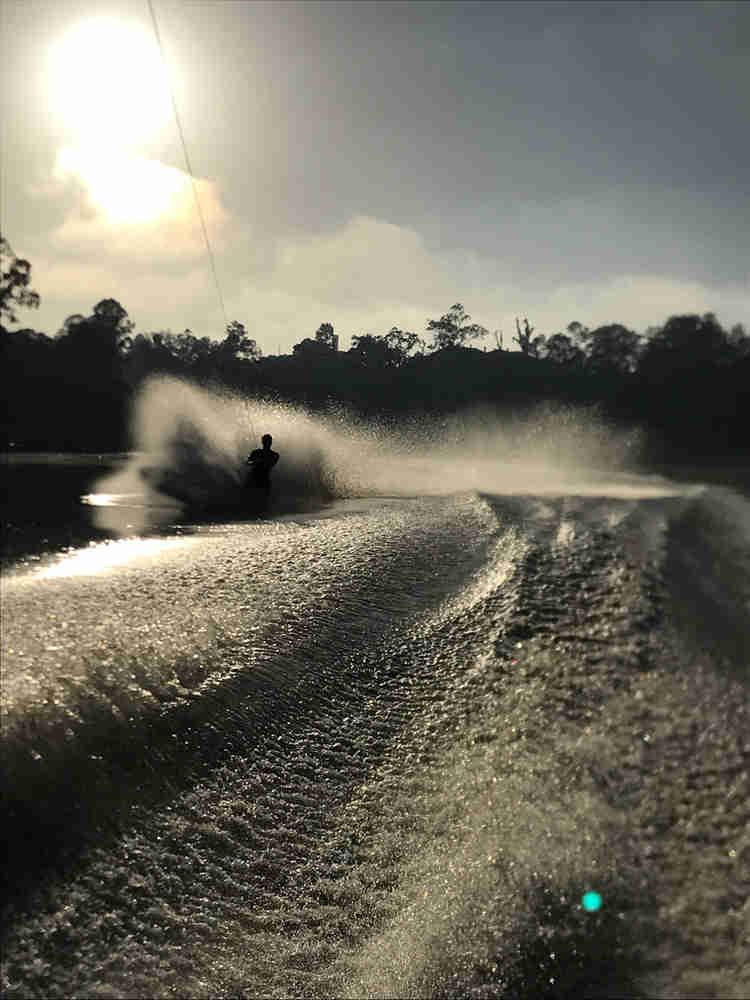 Brisbane river barefoot skiing