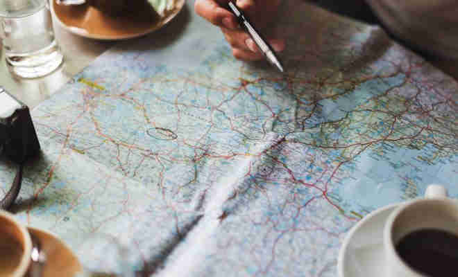 Person planning a roadtrip