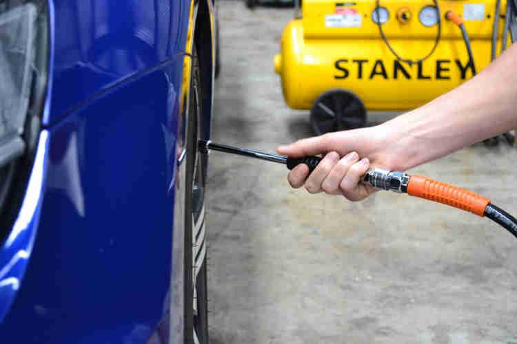 tyre pressures in storage