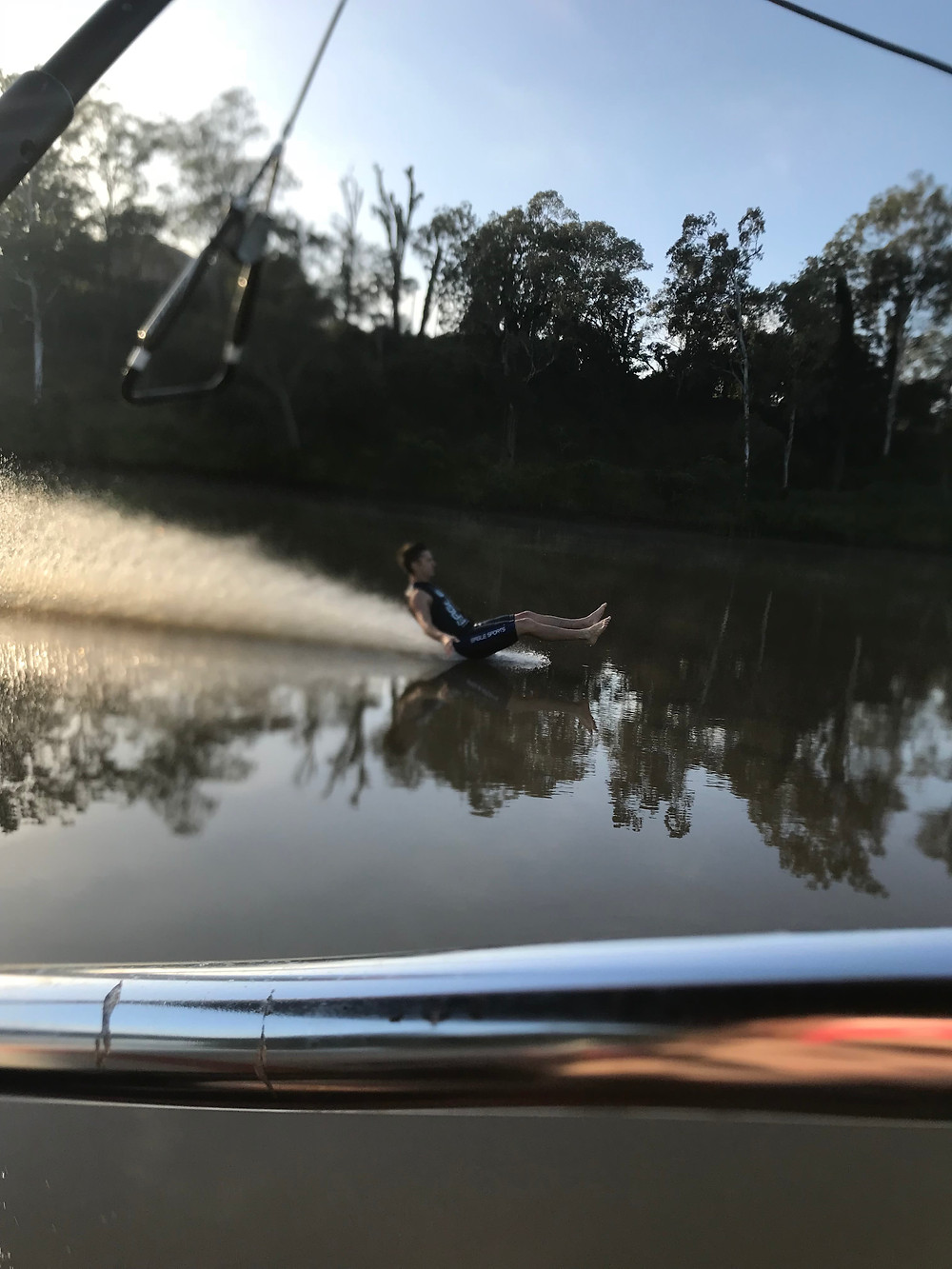 brisbane river barefoot skiing