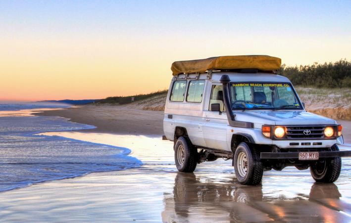 four wheel drive on beach