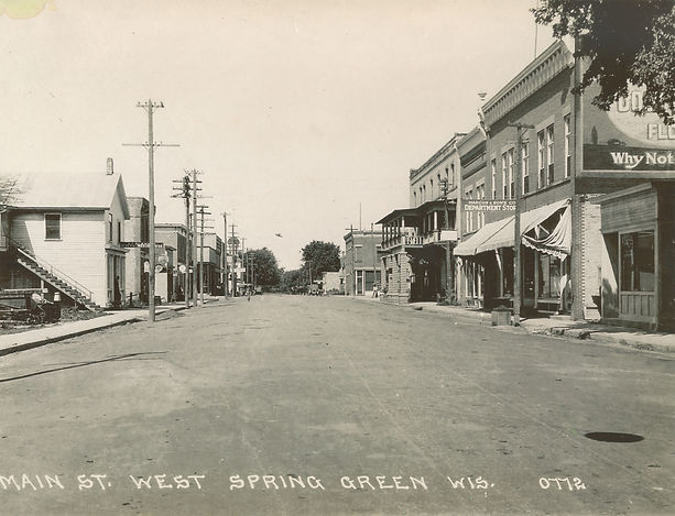 Historic photo of downtown Spring Green WI