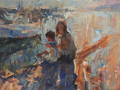 Sardinian paintings. Etude.