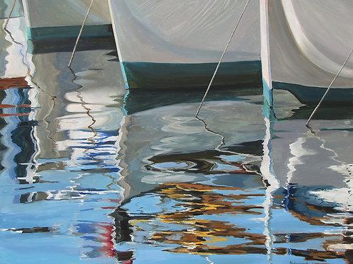 Отражение. Яхты