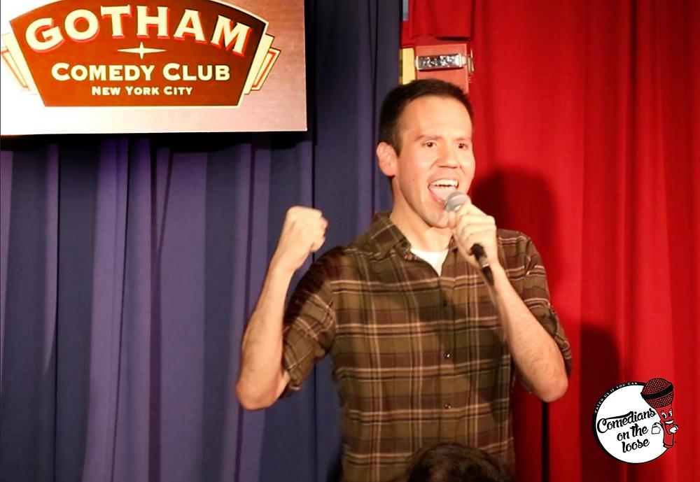 Eddie Gamez performing at Gotham Comedy Club