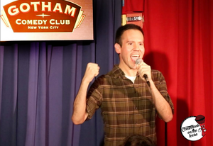 Eddie Gamez performing at Gotham Comedy Club