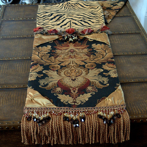 Gold Animal Table Runner
