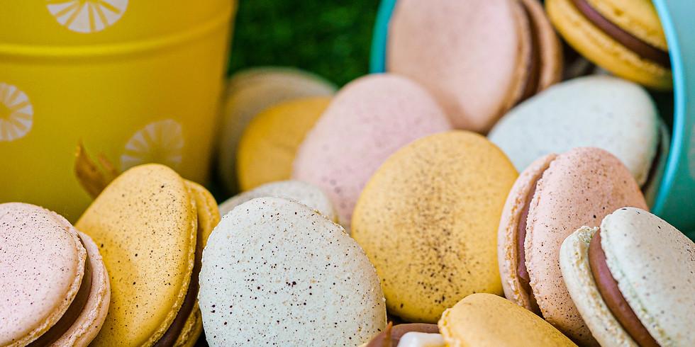 Dan's Creme Egg Macarons