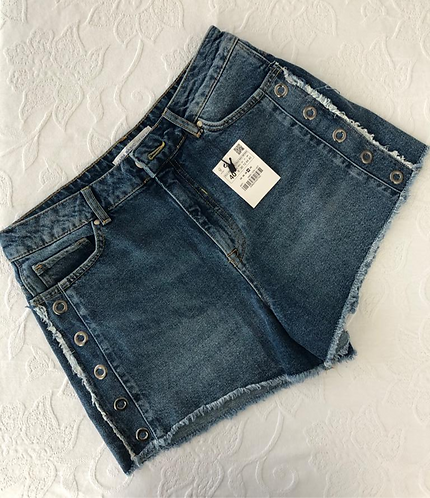 Short Zara Basic Denim