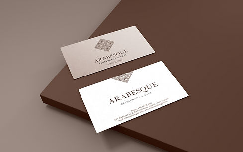 Business card, name card, logo