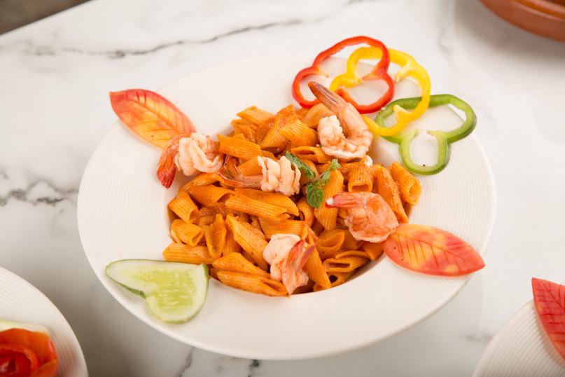 Macaroni  with Shrimp