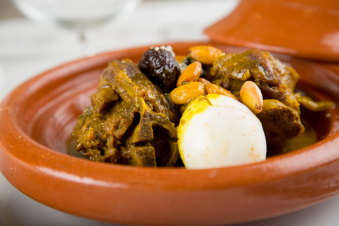 Moroccan Meat Tagin with Egg