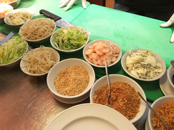 A variety of popiah condiments