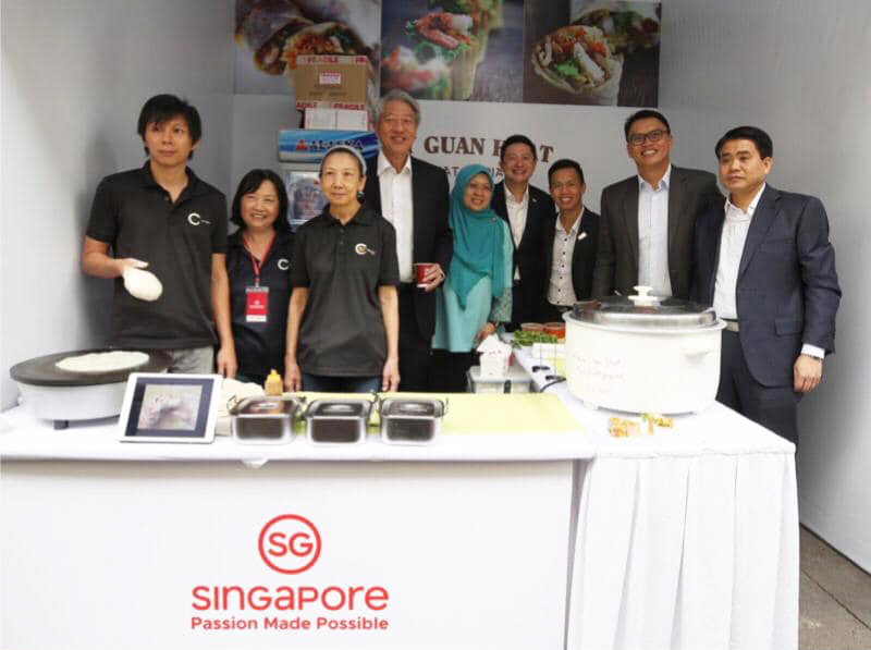 A visit to our stall by DPM Teo