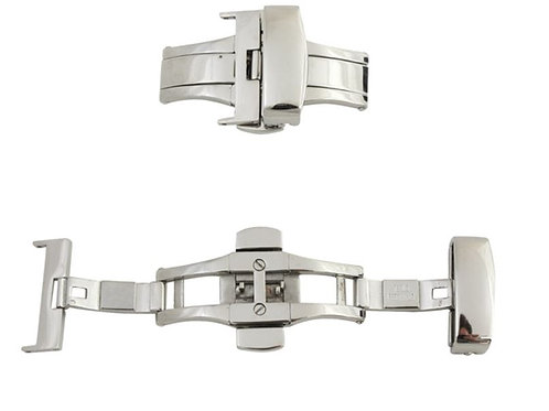 Push Button Stainless Steel Deployment Buckle