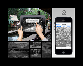 """Disney augmented reality """"Throwback"""" mobile application concept."""