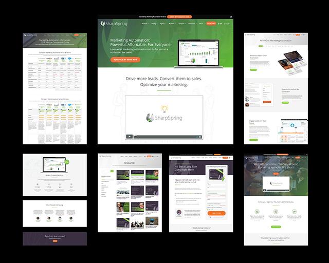 SharpSpring website redesign via custom wordpress theme