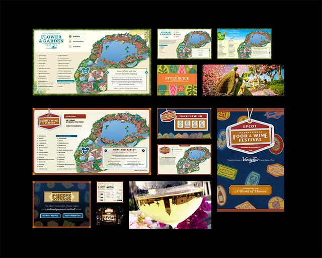 Epcot Flower & Garden and Epcot Food & Wine Festival digital wayfinding and ordering