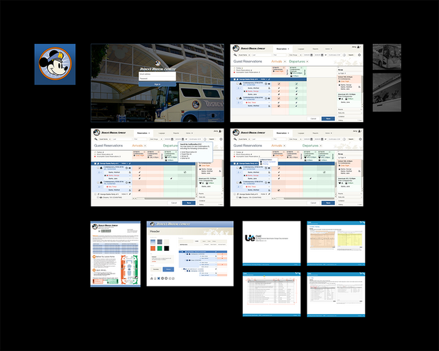 Disney's Magical Express agile, composite application redesign project
