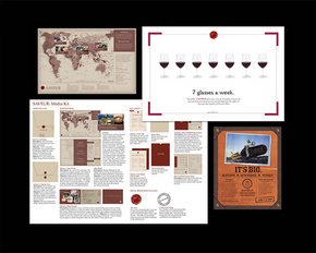 Saveur magazine media kit, advertising and event collateral