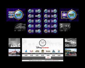 Disney Quest and Disney Transportation digital signage