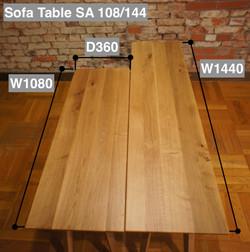 Sofa Table SA サイズ比較